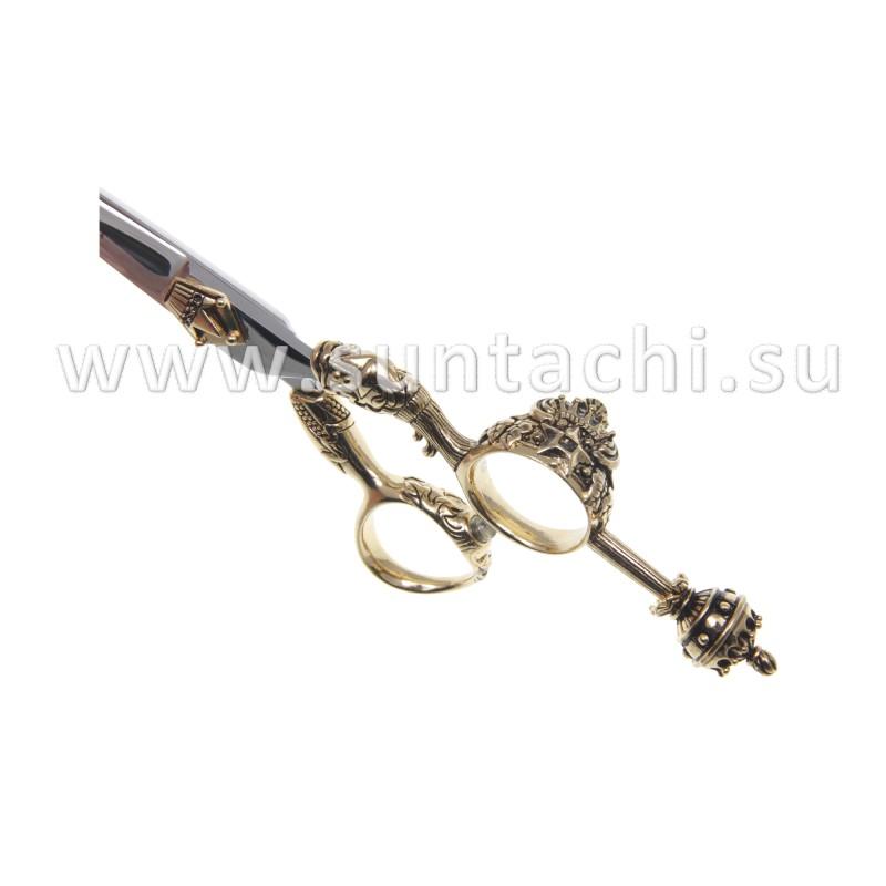 Прямые ножницы Queen Elizabeth gold