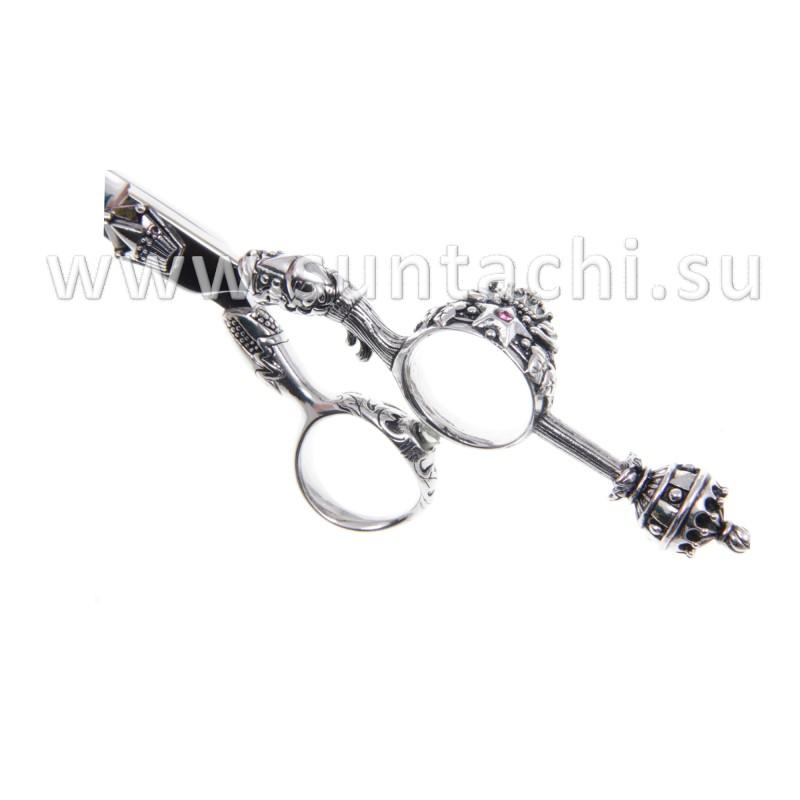 Прямые ножницы Queen Elizabeth silver